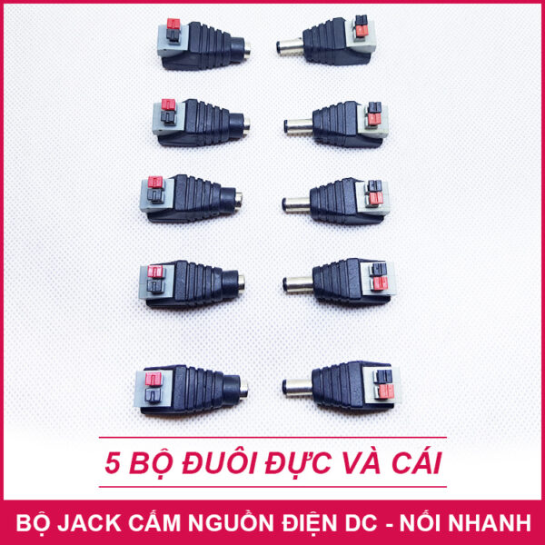 Jack Cam Nguon Dien Adapter Noi Nhanh 5 Bo Lazada