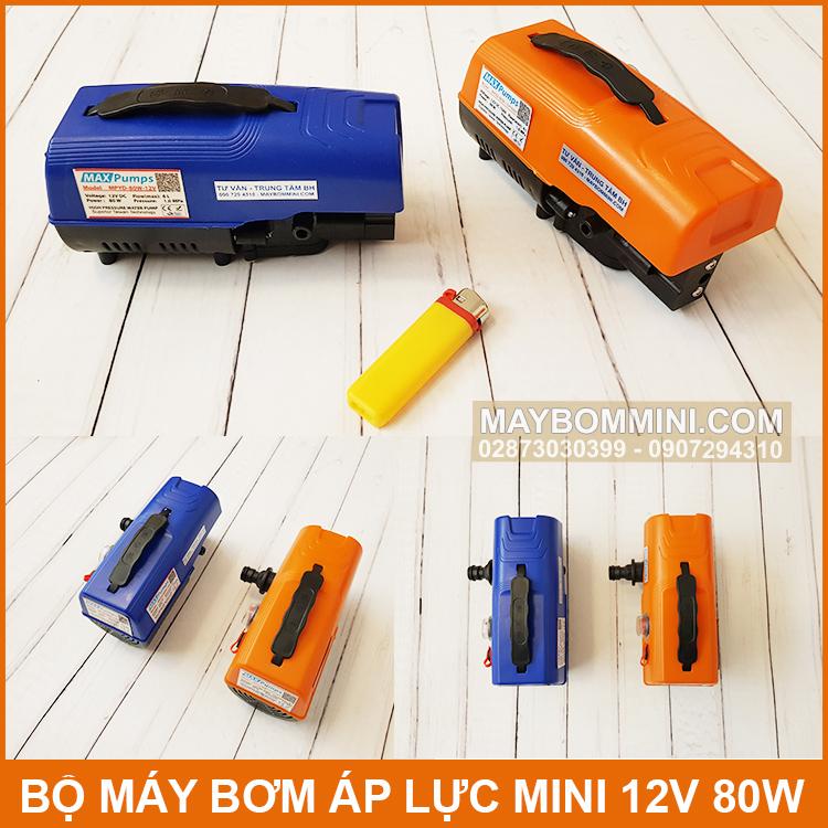 Kich Thuoc May Bom Mini 12v 80w