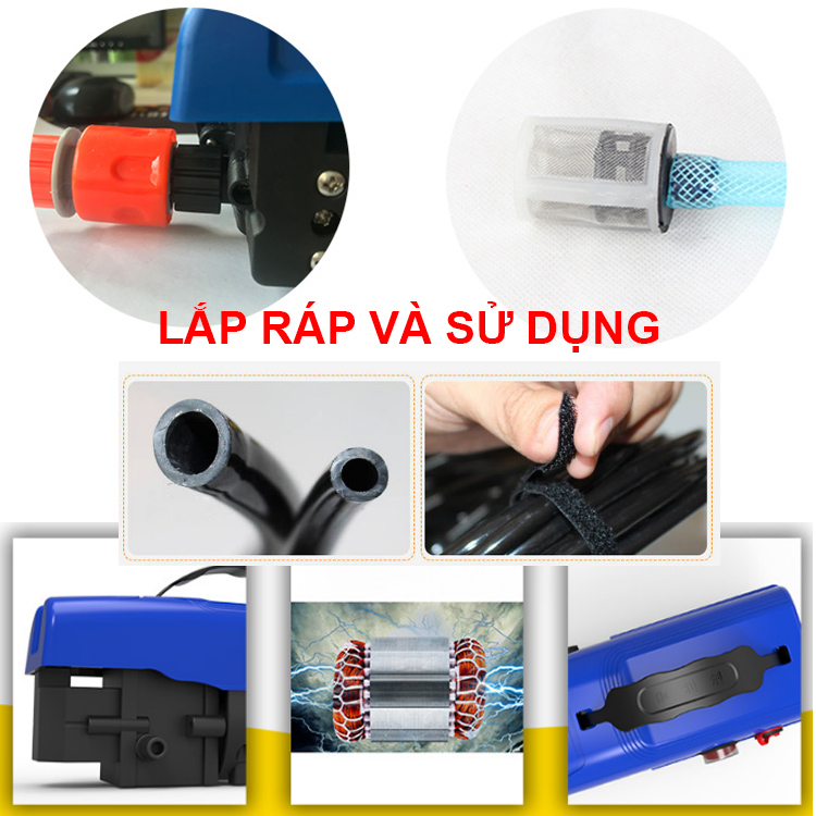 Lap Rap Va Su Dung May Rua Xe Mini 12v 80w