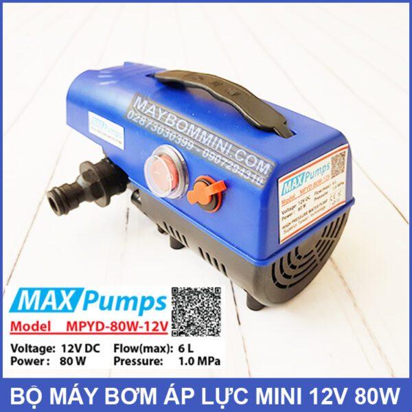 May Bom Ap Luc Mini 12v 80w Maxpump MPYD