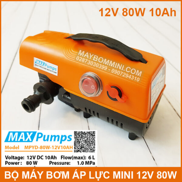 May Bom Ap Luc Mini 12v 80w Pin 10ah