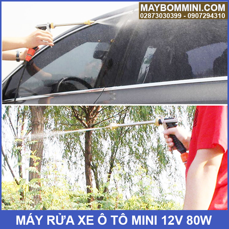 May Rua Xe Ap Luc Mini 12v