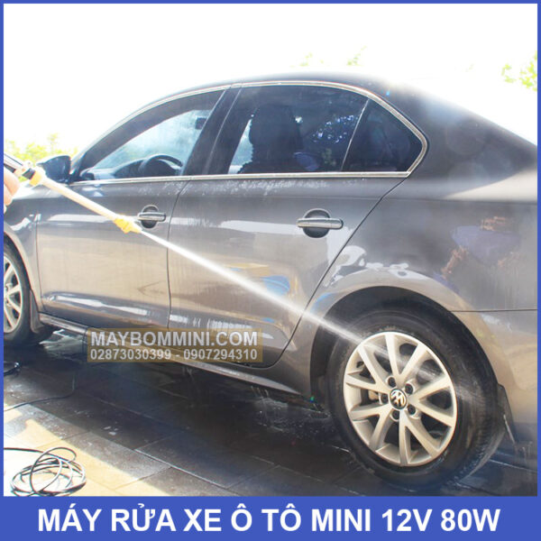 May Rua Xe O To Mini 12v 80w