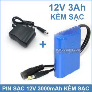 Pin 12v 3ah Kem Sac