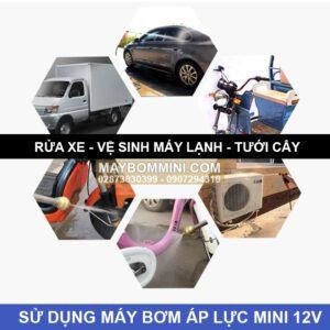 Su Dung May Bom Ap Luc Mini 12v Maxpumps