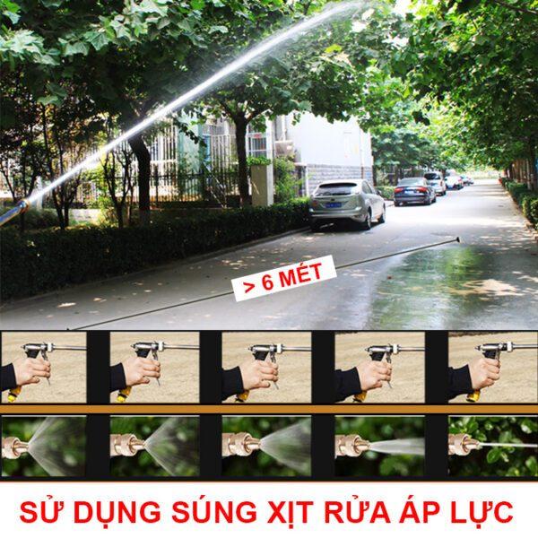 Su Dung Sung Xit Rua Xe Ap Luc Chinh Tia