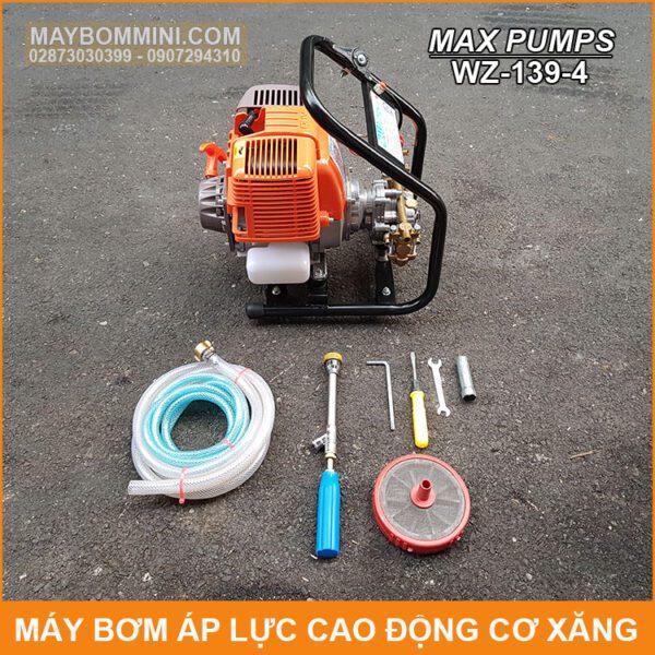 Tron Bo May Rua Xe Phun Thuoc Sau Dong Co Xang