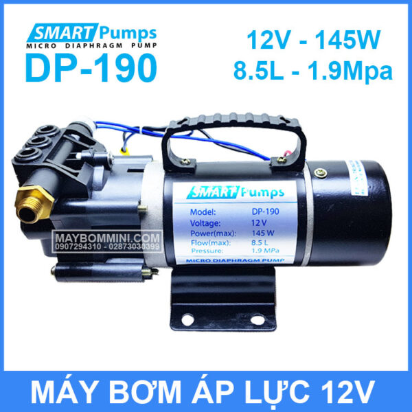 May Bom Ap Luc Mini 12V 145W Smartpumpp DP 190