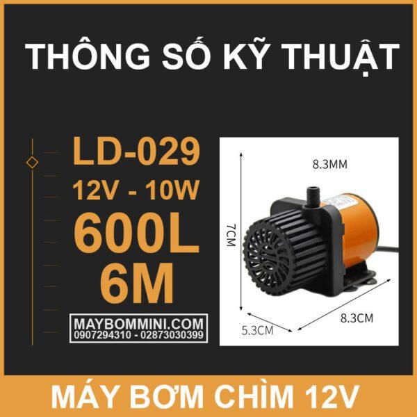 Thong So Ky Thuat Bom Chim 12V LD 029
