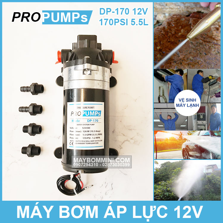 May Bom Ap Luc Propumps DP 170 12V