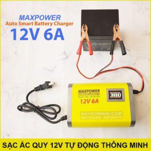 Sac Ac Quy Tu Dong Thong Minh 12V 6A