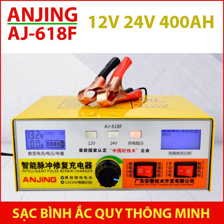 Sac Binh Ac Quy O To Xe May 12v 24v AJ 618F