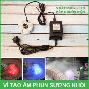 Vi Tao Am Phun Suong Khoi 5 Mat Va Den Led Kem Nguon Dien Lazada