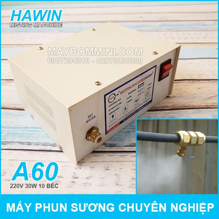 May Phun Suong Chuyen Nghiep Hawin A60 10 Bec