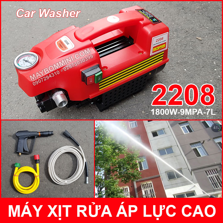 May Rua Xe Ap Luc Cao 220V 1800W 2208