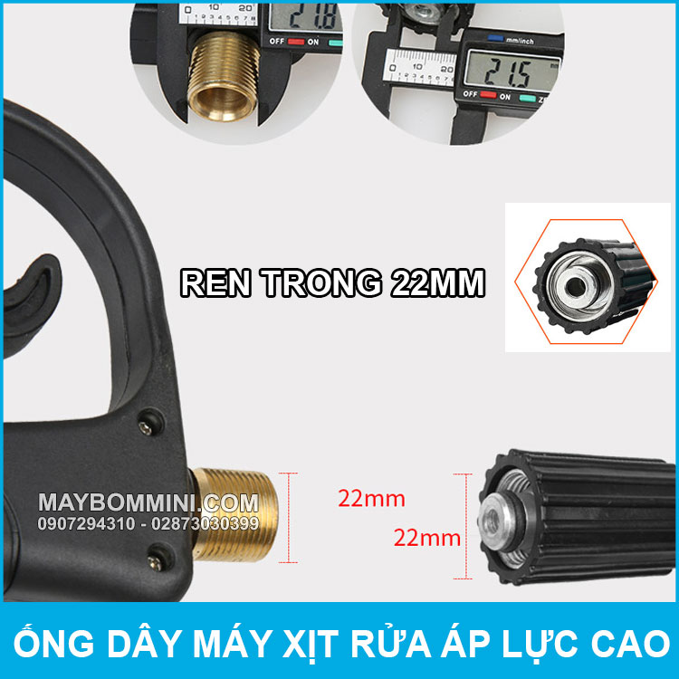 Ong Day Cho May Rua Xe Ren 22mm