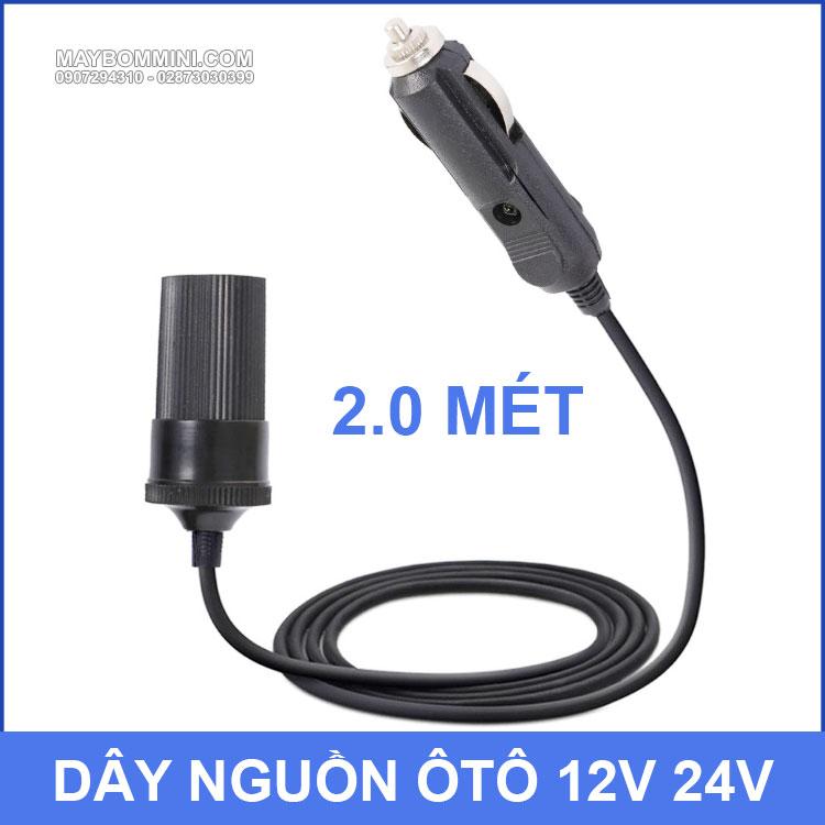 Day Noi Dai O Cam Dien Xe Oto 12v 24v
