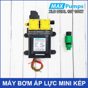 May Bom Mini Ap Luc Kep 12v 100W Tu Dong