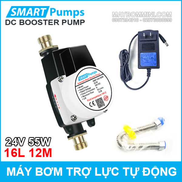 May Bom Tro Luc Nuoc Tu Dong 24v 55w 16l Smartpumps Chinh Hang Gia Re