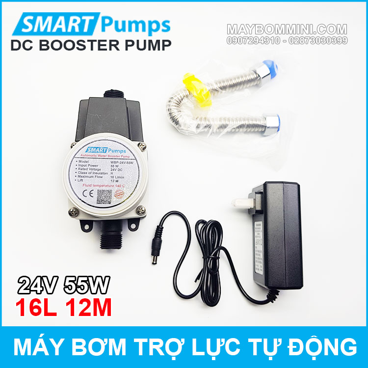 May Bom Tro Luc Nuoc Tu Dong 24v 55w 16l Smartpumps