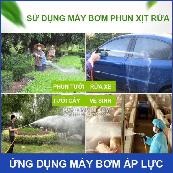 Phun Xit Rua Tuoi Cay Bang Bom Ap Luc Mini Kep