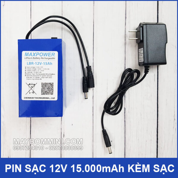 Pin Sac 12v 15Ah Kem Sac Pin