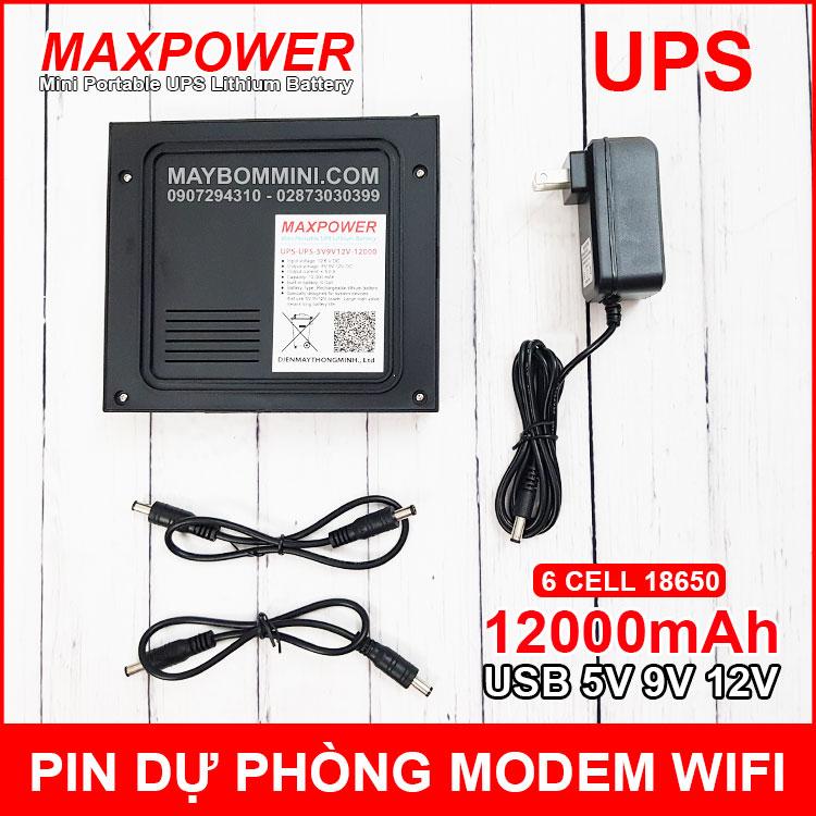 UPS 12000mah 5V 9V 12V