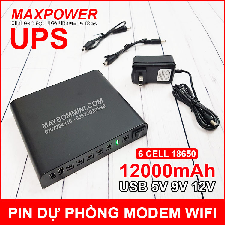 USP Du Phong Modem Wifi Camera 5v 9v 12v 12000mah