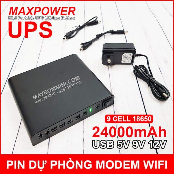 USP Du Phong Modem Wifi Camera 5v 9v 12v 24000mah
