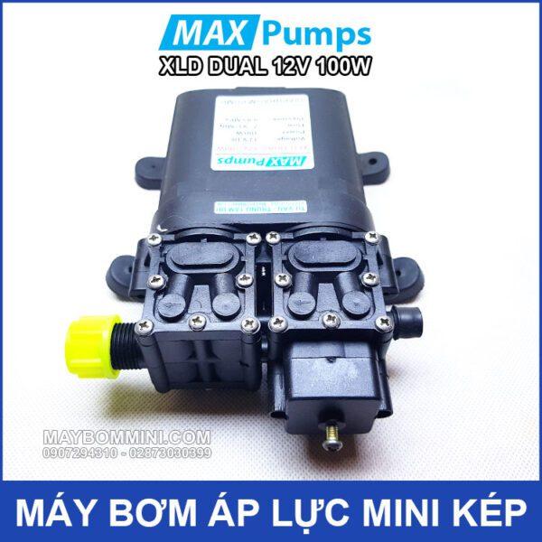Bom Nuoc Mini Kep 12V 100W Khong Cong Tat Ap
