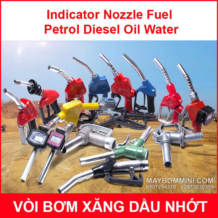 Indicator Nozzle Fuel Petrol Diesel Oil Water