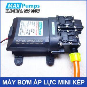 May Bom Mini Ap Luc Kep 12v 100W Maxpumps