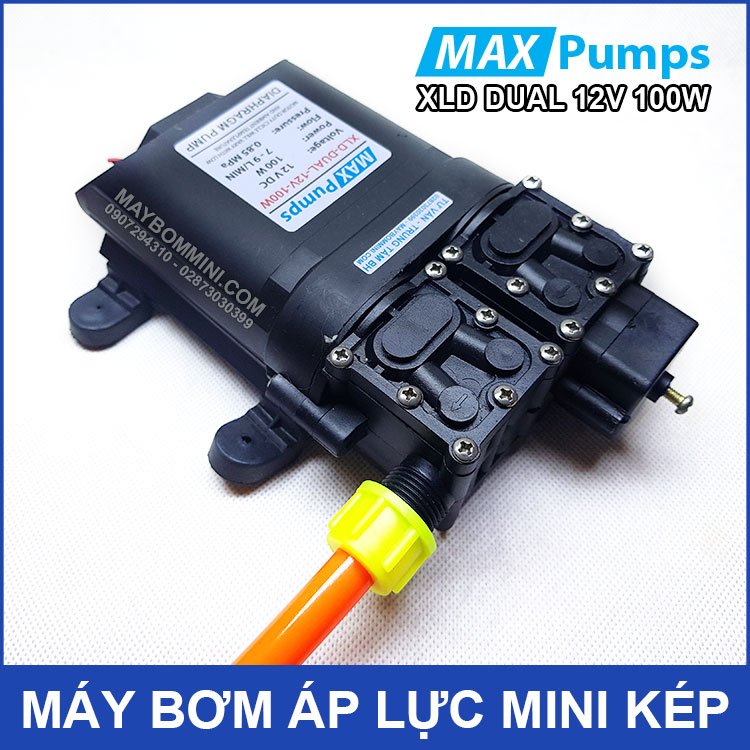 May Bom Mini Ap Luc Kep 12v 100W
