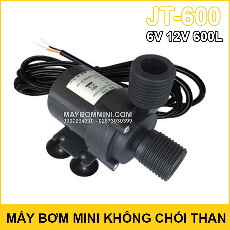 May Bom Mini Khong Choi Than 6v 12v 600L JT 600