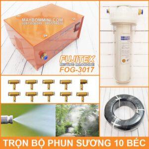 Tron Bo Phun Suong Lam Mat Tuoi Lan 10 Bec Fujitex Fog 3017