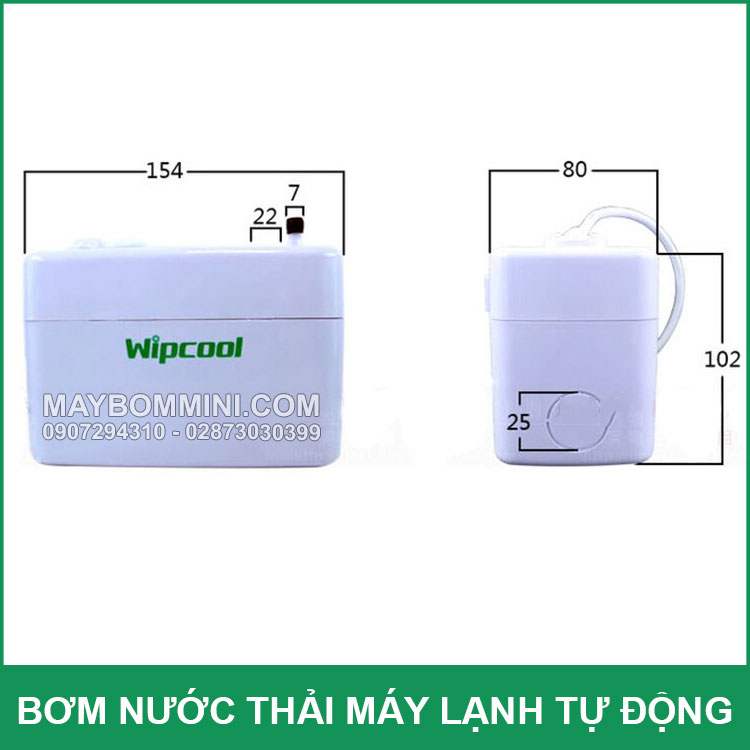 Kich Thuoc Bom Nuoc Thai May Lanh Wipcool 24A 40A