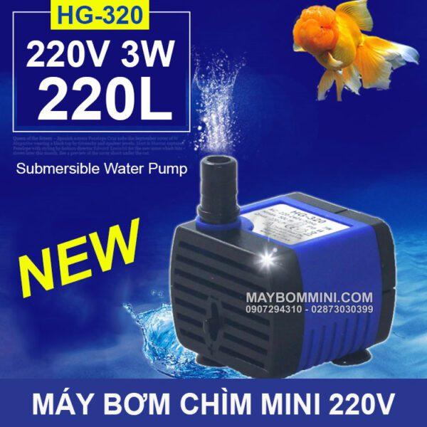 May Bom Chim 220V 3W 220L HG 320