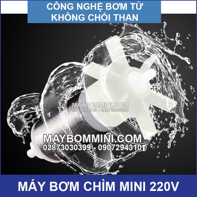 May Bom Mini Khong Choi Than 220v