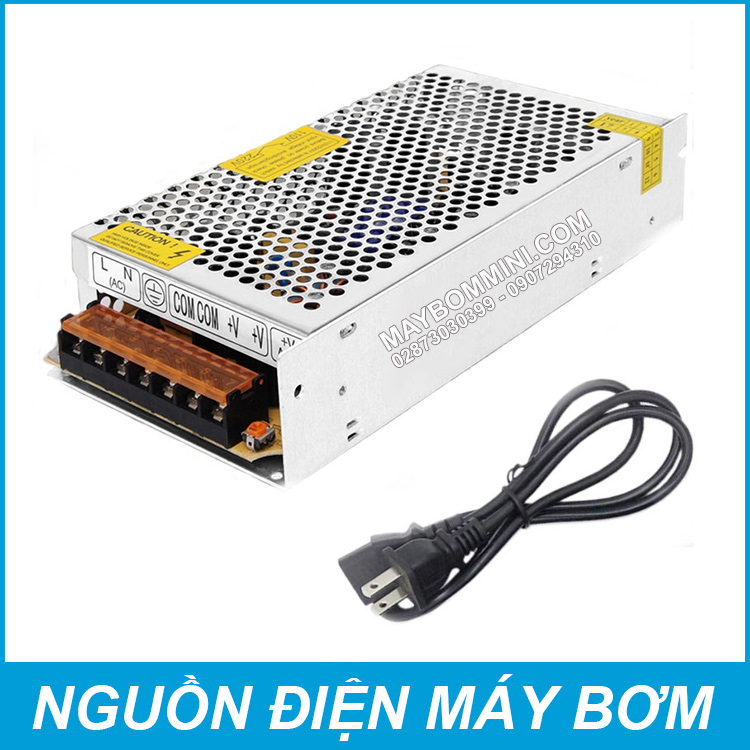 Nguon Dien May Bom Mini Ap Luc 12V 15A