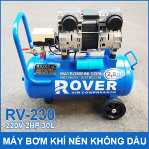 May Bom Hoi Khi Nen Khong Dau 220V 2HP 30 Lit RV230 Rover