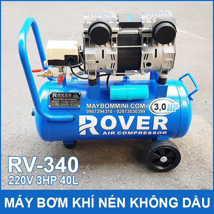 May Bom Hoi Khi Nen Khong Dau 220V 3HP 40 Lit RV340 Rover