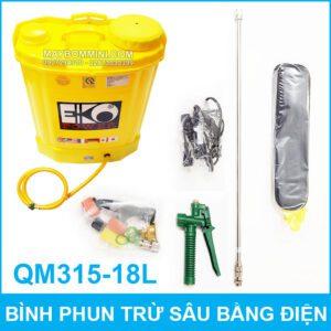 Binh Phun Thuoc Tru Sau Bang Dien QM315 18L