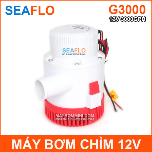 May Bom Chim 12v 3000GPH Seaflo Chinh Hang