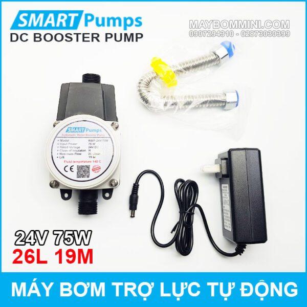 May Bom Tro Luc Nuoc Tu Dong 24v 75w 26l Smartpumps