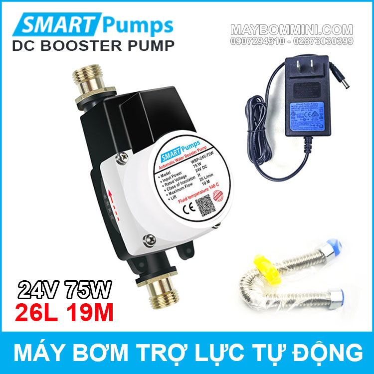 May Bom Tro Luc Nuoc Tu Dong 24v 75w 26l Smartpumps Chinh Hang Tiki