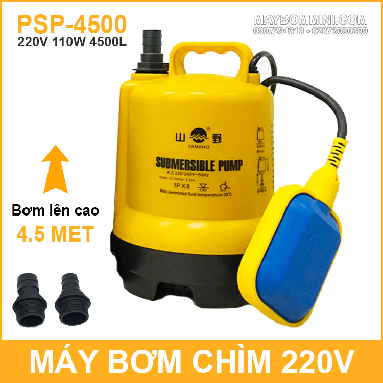 May Bom Chim Tu Dong Luu Luong Lon 220v 110W 4500L Yamano