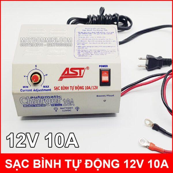 Sac Binh Ac Quy Tu Dong 10A 12V AST