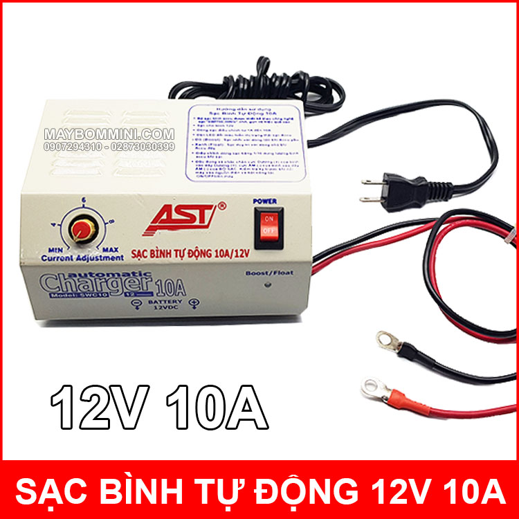 Sac Binh Ac Quy Tu Dong 10A 12V AST Chinh Hang Gia Tot