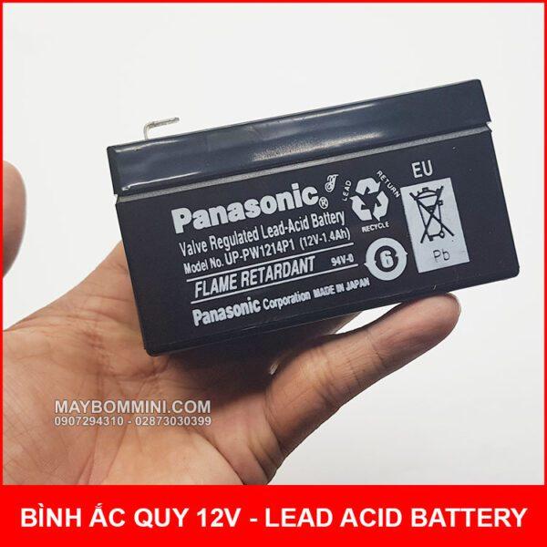 Ban Binh Ac Quy 12v Panasonic Mini