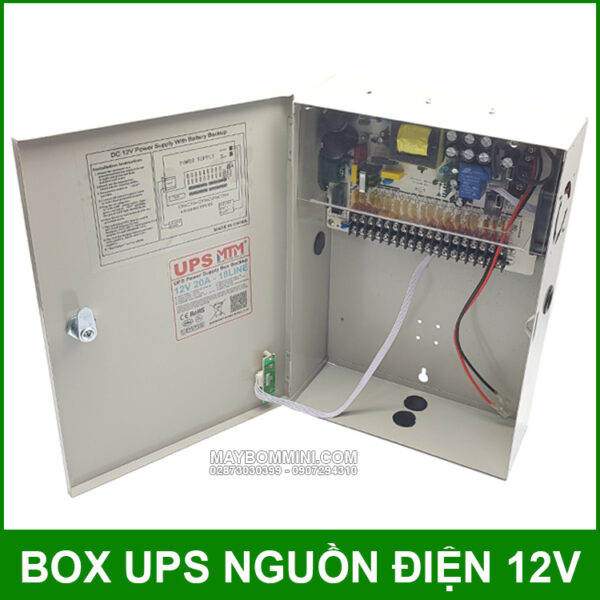 Box Nguon Dien Du Phong UPS 12V 20A Chinh Hang